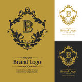 Vetor ornamentado Logo Template Fotografia de Stock Royalty Free