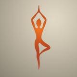 Vetor para a ioga, massagem Fotos de Stock