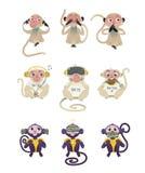 Vetor para não ver nenhum mal não ouvir nenhum mal não falar nenhum macaco mau ilustração do vetor