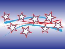 Vetor patriótico -- horizontal Fotografia de Stock