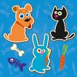 Vetor pequeno bonito dos animais das etiquetas Fotografia de Stock Royalty Free
