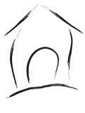 Vetor pintado casa do logotipo Imagem de Stock Royalty Free