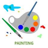 Vetor - pintura Imagens de Stock Royalty Free