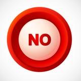 Vetor plástico vermelho NENHUM botão Imagens de Stock