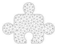 Vetor poligonal componente Mesh Illustration do quadro ilustração stock