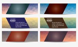 Vetor poligonal do encabeçamento da bandeira Imagens de Stock