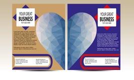 Vetor poligonal do estilo do coração dos moldes do inseto Imagem de Stock Royalty Free