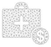 Vetor poligonal Mesh Illustration do quadro do caso comercial da medicina ilustração royalty free