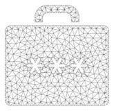 Vetor poligonal Mesh Illustration do quadro do caso da cifra ilustração royalty free