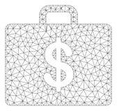 Vetor poligonal Mesh Illustration do quadro do caso do neg?cio ilustração royalty free