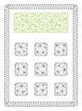 Vetor poligonal Mesh Illustration do quadro da calculadora da contabilidade ilustração royalty free