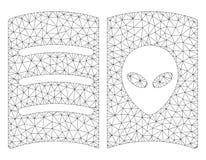 Vetor poligonal Mesh Illustration do quadro do livro estrangeiro da cara ilustração stock