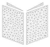 Vetor poligonal Mesh Illustration do quadro do livro ilustração do vetor