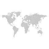 Vetor pontilhado do mapa do mundo Imagem de Stock Royalty Free