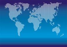 Vetor pontilhado do mundo Foto de Stock Royalty Free