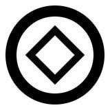Vetor preto de vida da cor do ícone do símbolo do ing de Inguz da runa de Ingwaz na imagem lisa do estilo da ilustração redonda d ilustração do vetor