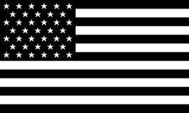 Vetor preto e branco da BANDEIRA AMERICANA Fotografia de Stock Royalty Free