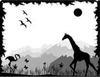Vetor preto e branco da natureza ilustração royalty free