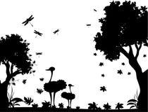 Vetor preto e branco da natureza ilustração do vetor