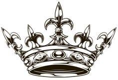 Vetor preto e branco gráfico da coroa do rei ilustração royalty free