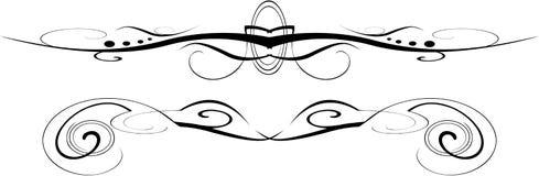 Vetor preto e branco ornamentado Imagem de Stock