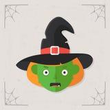 Vetor principal do ícone da bruxa Fotos de Stock Royalty Free
