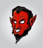Vetor principal do diabo Fotografia de Stock Royalty Free
