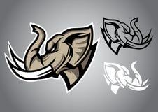 Vetor principal do logotipo do emblema do linethai do elefante Fotos de Stock