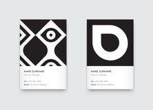 Vetor Propaedeutics mínimo Vert na moda gráfico preto e branco Fotografia de Stock