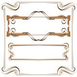 Vetor Quadro elegante bonito do vintage Grupo de elementos para o DES ilustração stock