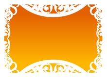Vetor - quadro na laranja Fotografia de Stock