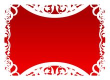 Vetor - quadro no vermelho Fotos de Stock