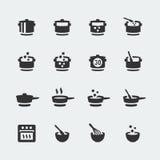 Vetor que cozinha os ícones ajustados Foto de Stock