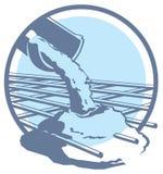 Vetor que derrama o ícone concreto Imagem de Stock Royalty Free