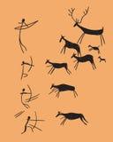 Vetor que descreve a caça ilustração royalty free