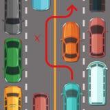 Vetor que quebra alcançando a regra da estrada ilustração stock