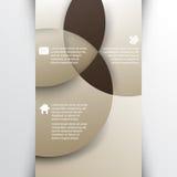 Vetor que sobrepõe o fundo geométrico do infographics das formas Foto de Stock Royalty Free