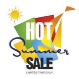 Vetor quente do fundo da cor do veleiro do disconto da venda do verão ilustração stock