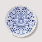 Vetor realístico da placa Utensílios de mesa da porcelana do close up isolados Opinião superior do prato cerâmico da cozinha Cozi ilustração royalty free