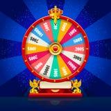 Vetor realístico da roda da fortuna que gira Lucky Roulette ilustração do vetor