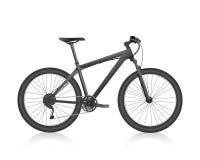 Vetor realístico do preto do Mountain bike Imagens de Stock Royalty Free