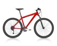 Vetor realístico do vermelho do Mountain bike Fotografia de Stock