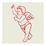 Vetor retro do anjo ilustração do vetor