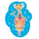 Vetor romântico dos desenhos animados da menina Fotos de Stock Royalty Free