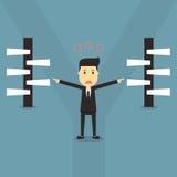 Vetor seleto eps 10 das escolhas do homem de negócios Imagens de Stock