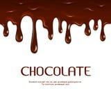 Vetor sem emenda de gotejamento derretido do chocolate ilustração royalty free