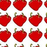 Vetor sem emenda do coração da pimenta Imagem de Stock
