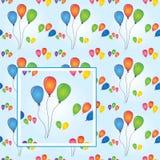 Vetor sem emenda do partido dos balões Fotografia de Stock Royalty Free
