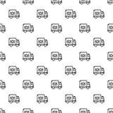 Vetor sem emenda do teste padrão do caminhão do tipo ilustração royalty free