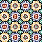 Vetor sem emenda do teste padrão da telha de mosaico Imagem de Stock Royalty Free